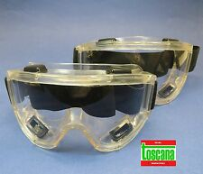 Dental Medical Veterinary Lab Protection Glasses Safety Set /2 Clear TOSCANA