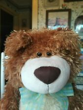 Large brown plush First & Main Witherspoon Teddy Bear 15in sitting EUC