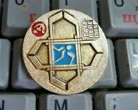 Eishockey Badge pin IIHF World hockey championships 1965 in Tampere Soviet Team