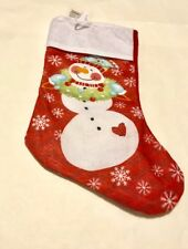"Holiday Christmas Stocking ""Snowman"""