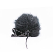 Schwarz Fell Windschutzscheibe Wind Muff für Revers Lavalier Mikrofon Mic CBL
