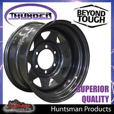 16x8 6 Stud Black Thunder Steel Wheel Rim -23 Offset. 6/139.7 suit Toyota patrol