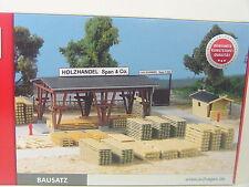 Commercio in legno con magazzino legno-AUHAGEN HO 1:87 KIT 11353 # E