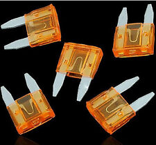 100pcs ATM Mini Fuses Auto Car Motorbike Boat Blade 5A 5Amp Electronic