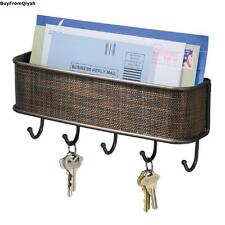 Wall Mount,Mail & Key Rack,Bronze,Storage,Organize,Hook,Holder,Decorate, Letter