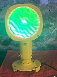 Runway Threshold Light. Refurbished, Repaired Converted To Man cave 240v Lamp.