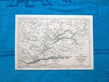 Gravure Année 1863 - Carte de l'Asie Centrale - Cartina dell'Asia Centrale