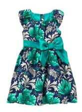 Gymboree Emerald PARTY TEAL NAVY FLORAL DRESS Girls Holiday Christmas Nwt Size 5