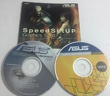 2 ASUS DISKS 1 IS V513 2005 1 IS V558 2006 VGA DRIVERS INSTALLATION CDS (SEE PIC