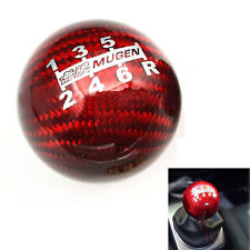Car Carbon Fiber Red MUGEN Shift Knob For Honda CRZ CIVIC ACCORD S2000 FD2 FA5