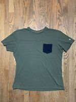 Kuhl Mens Olive Green Wild Fibre Pocket Short Sleeve  T Shirt Size XL
