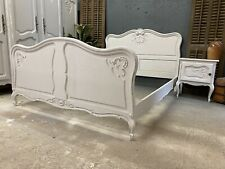More details for vintage french double  bed/ french bed painted shabby chic style