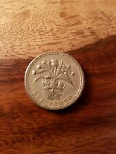 1984 uk £1 ONE POUND COIN THISTLE AND DIADEM SCOTLAND
