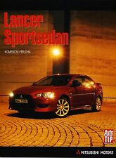 Mitsubishi Lancer 2008 catalogue brochure tcheque Czech rare