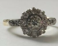 Antique 18ct Gold Diamond Art Deco Platinum Ring