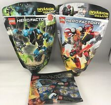 LOT OF 3 LEGO HERO FACTORY + BIONICLE 44018 + 44026 + 500291 POLYBAG SEALED