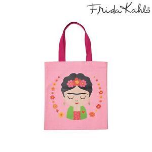 Sass & Belle Frida Kahlo Pink Canvas Tote Bag - Brand New