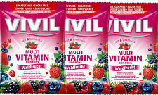 VIVIL Sugar Free Wild Berry Flavour Multi Vitamin Sweets 60g (PACK OF 3)