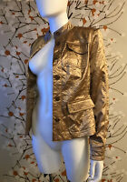 Satin Cache Jacket Size 4, BNW, Shiny Copper Color