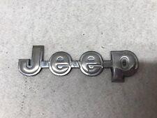JEEP EMBLEM 84-92 FENDER/TRUNK OEM METAL BADGE sign symbol logo name