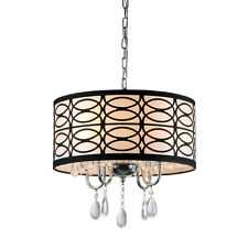 Cecilia 4 Light Drum Chandelier by Warehouse of Tiffany