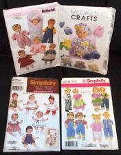 Lot of 4 Baby Doll Clothes Patterns Clothing Sewing Butterick McCalls Simplicity