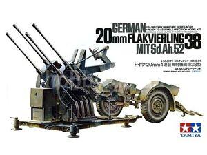 TAMIYA 1/35 GERMAN 20MM FLAK 38 GUN PLASTIC KIT TA35091