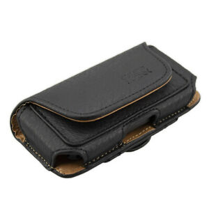 caseroxx Horizontal Case for Panasonic KX-TU110 in black made of faux leather