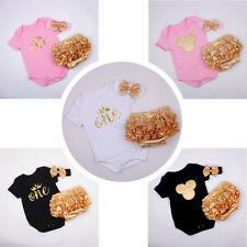 3pcs Infant Baby Girl Headband+Bodysuit+Shorts Outfit Clothes Ropa de Bebe Set
