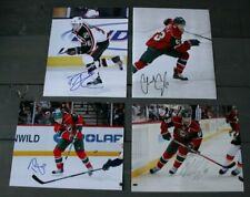 Lot of 4 Autographed Minnesota Wild 8x10 Photos  Bouchard Coyle Gilbert Schultz