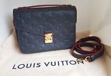 AUTHENTIC Louis Vuitton Monogram Empreinte Pochette Metis leather Marine Rouge