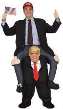 Carry me Buddy Piggy Back Ride On Shoulder President Donald Trump Mask Costume