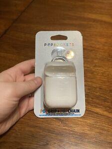 Popsockets Popgrip + Popchain Airpods Holder + Phone Grip Keychain White 803814