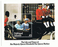 Falkland Islands Stamp Life & Times of Queen Mother 1985 Mini-sheet MS509.