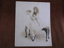 Young Mary Pickford Holding 2 Adorable Kittens/Signed-Autographed Sepia Photo