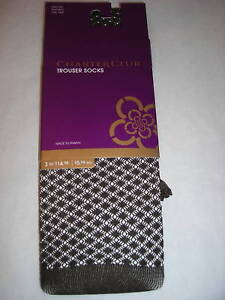 Womens Charter Club Chocolate Textured Trouser Socks OSFA