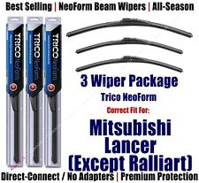 3-Pack Wipers Front & Rear NeoForm 2010+ Mitsubishi Lancer 16260/16180/16140