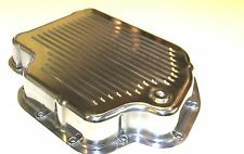 TURBO 400 ALLOY TRANSMISSION PAN HIGHLY POLISHED WITH BOLTS - SBC CHEV ENGINE