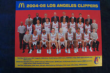 """2004-05 Los Angeles Clippers Nba McDonald's team picture, 8.5"""" x 11"""" print"""