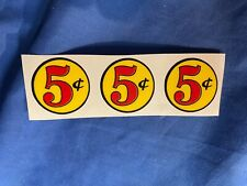 Gumball machine five cent decal, 5 cent sticker