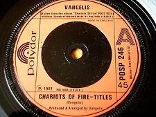 """VANGELIS - CHARIOTS OF FIRE - TITLES   7"""" VINYL"""