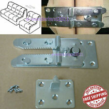 """Sectional Sofa Couch Connector Snap Style Iron """"alligator Style"""" & 8 Pcs Screws"""