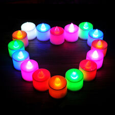 5Pcs Pink Lights LED Electric Candle Flameless Light Wedding Party Home Decor