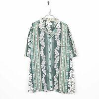 Vintage Abstract Hawaiian Short Sleeve Festival Shirt | 2XL