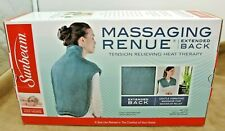 NEW NIB Sunbeam Massaging Renue Extended Back Neck Heating Pad Therapy Vibrating