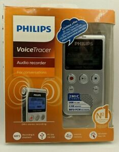Philips Voice Tracer Audio Recorder Warm Silver And Black