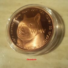 2014 Dogecoin Physical Bit Coin Copper Edition Like Bitcoin Shibe Mint