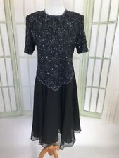 Brilliante Sparkly Beads Sequins Fit Flare Evening Party Anniversary Dress XL