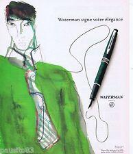 PUBLICITE ADVERTISING 075  2003  Les stylos WATERMAN signe élégance