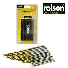 ROLSON 20pc Micro Mini HSS Drill Bit Set for Metal Wood Precision 0.3 .35 .4